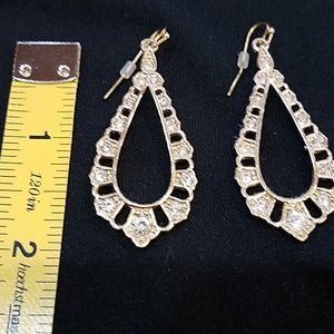 New, Gold wire Rhinestones Earrings